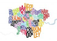 London UK Text Map