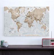 Medium The World Is Art - Wall Map Neutral (Canvas)