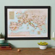 Scratch Off European Wine Print (Pinboard & wood frame - Black)