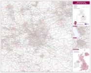 Manchester Postcode Sector Map
