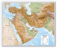 Large Middle East Wall Map Physical (Canvas)