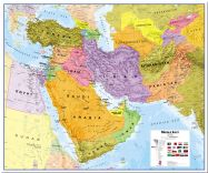 Huge Middle East Wall Map Political (Pinboard)