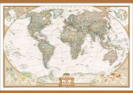 National Geographic World Executive Map (Wooden hanging bars)