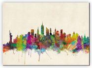 Extra Small New York City Skyline (Canvas)