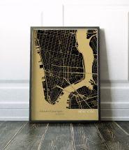 New York City Street Map Print Straw