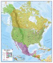 Huge North America Wall Map Political (Raster digital)