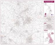 Nottingham and Derby Postcode Sector Map