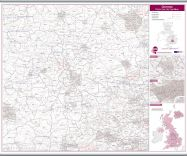Oxford Postcode Sector Map (Hanging bars)