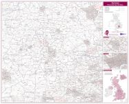 Oxford Postcode Sector Map (Laminated)
