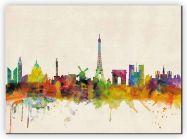 Medium Paris City Skyline (Canvas)