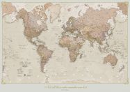 Medium Personalised Antique World Map (Rolled Canvas - No Frame)