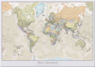 Huge Personalised Classic World Map (Pinboard)