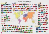 Primary Flags of the World poster (Pinboard)