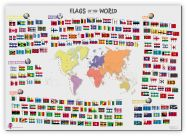 Primary Flags of the World poster (Canvas)