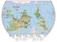Huge Primary Upside Down World Wall Map Environmental (Laminated)