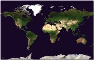 Huge Satellite Map of the World (Pinboard)