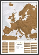 Scratch Europe Print (Pinboard & wood frame - Black)