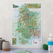 Scratch Off Peak District Rock Climbs Print