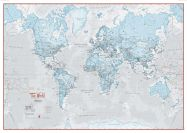 Huge The World Is Art - Wall Map Aqua (Laminated)