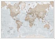 Small The World Is Art - Wall Map Neutral (Pinboard)