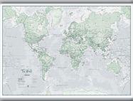 Medium The World Is Art - Wall Map Rustic (Hanging bars)