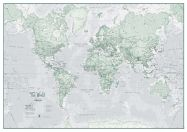 The World Is Art - Wall Map Rustic