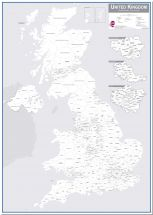 UK Parliamentary Boundary Outline Map (Pinboard)