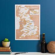Scratch Off UK Breweries Print (Silk Art Paper)