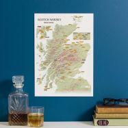 Scratch Off Scotland Whisky Distilleries Print (Silk Art Paper)