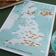 Scratch Off UK Gin Distilleries Print (Silk Art Paper)