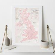 UK as Art Map - Blush