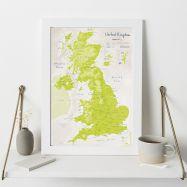 UK as Art Map - Parakeet