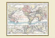 Vintage British Empire World Map 1896