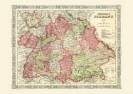 Vintage Johnsons Map of Germany No 3