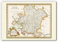 Small Vintage Map of Franconia (Canvas)