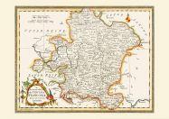Medium Vintage Map of Franconia (Rolled Canvas - No Frame)