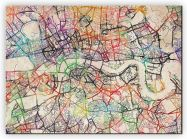 Extra Small Watercolour Map of London (Canvas)