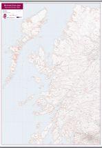Western Scotland Postcode District Map (Hanging bars)