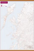 Western Scotland Postcode District Map (Wooden hanging bars)