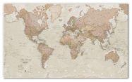 Large Antique World Map (Canvas)