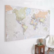 Huge Classic World Map (Canvas)