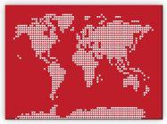 Medium World Map Love Hearts (Canvas)
