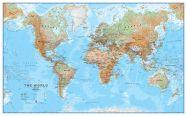 Large World Wall Map Physical (Raster digital)