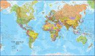 World Wall Map Political