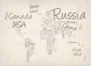 Writing Text Map of the World