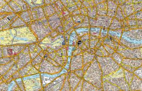 Medium A-Z Canvas London Street Map (Rolled Canvas - No Frame)