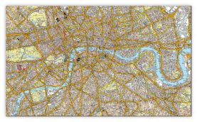 Huge A-Z Canvas London Street Map (Canvas)