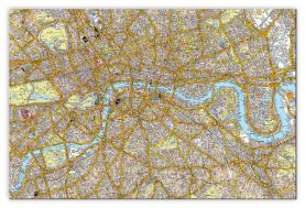Large A-Z Canvas London Street Map (Canvas)