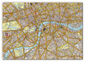 Small A-Z Canvas London Street Map (Canvas)