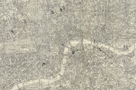 Large A-Z Historical Canvas Map Central London (Rolled Canvas - No Frame)